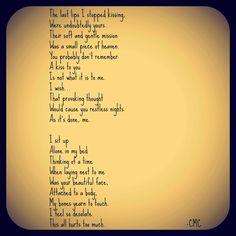 Reminiscing Lips. #courtneymarie #poems #poetry #love #breakup #kiss