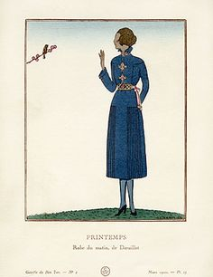 Gazette du Bon Ton Antique Fashion Prints 1912-1913 - Printemps by A. E. Marty BTG36 Reg. Price: $125 Sale Price: $85