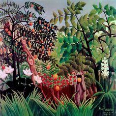 """""""Exotic Landscape, 1910"""" by Henri Rousseau"""