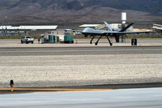 An MQ-9 Reaper flies a training mission Aug. 24, 2016, at Creech Air Force Base, Nevada. The capabilities of the aircraft allow Creech Airmen to officially train and meet the current global demands. (U.S. Air force photo by Airman 1st Class James Thompson)