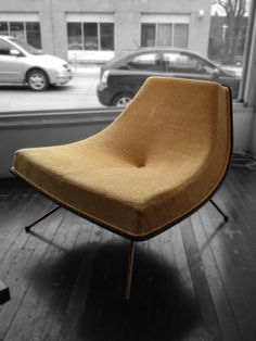 "Canadian design. A.J. Donahue ""Winnipeg"" chair at Machine Age Modern, Toronto."