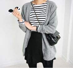 59 Ideas grey boats outfit fall casual minimal chic for 2019 Looks Chic, Looks Style, Style Me, Trendy Style, Simple Style, Minimal Chic, Minimal Classic Style, Mode Outfits, Casual Outfits