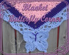 Butterfly Corner for a Blanket Border pattern on Craftsy.com. Add my Butterfly Border to ANY blanket border last round you're working on!