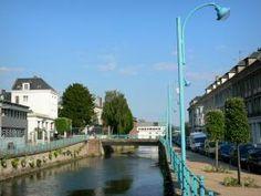 Pont-Audemer - Rivière Risle et façades de la ville