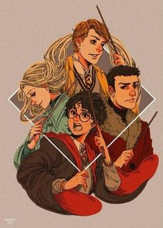 "moaniecat: "" Harry Potter and the Goblet of Fire – Book 4 is probably my favorite simply because I love the Triwizard champions. You guys have no idea how much I want to see an AU where Cedric doesn't die and Harry teams up with the other Triwizard. Arte Do Harry Potter, Harry Potter Drawings, Yer A Wizard Harry, Harry Potter Books, Harry Potter Universal, Harry Potter World, Fanart Harry Potter, Ravenclaw, Goblet Of Fire Book"