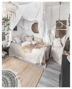Bohemian Room, Bohemian Bedroom Decor, White Bohemian Decor, Bohemian Curtains, Boho Bed Room, Bohemian Bedding, Bohemian Style Bedrooms, Bohemian Living, Cute Bedroom Ideas