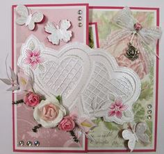 Joy!crafts: Romantische borduurkaart