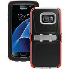 Trident Case Samsung Galaxy S 7 Kraken Ams Case (black And Red And Gray)