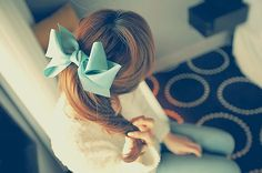 Tiffany blue bow.