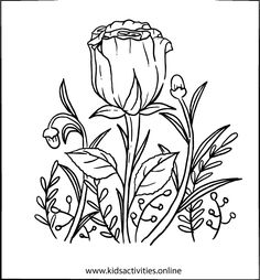 Spring Flowers Coloring Pages For Adults Printable ⋆ Kids Activities Colouring Sheets For Adults, Free Coloring Sheets, Printable Adult Coloring Pages, Coloring For Kids, Rose Coloring Pages, Spring Coloring Pages, Mandala Coloring Pages, Coloring Books, Simple Paper Flower