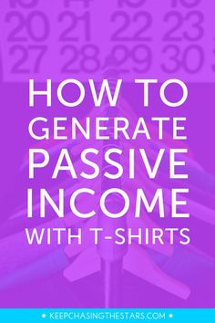 Contrary to what you've heard courses aren't the only way to generate passive income. And guess what?! You can generate passive income by selling t-shirts. Click through to learn how to launch a t-shirt line in 10 steps.
