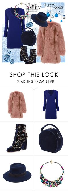 """""""Fuzzy Coats 3"""" by forgottenmelody ❤ liked on Polyvore featuring J. Mendel, Ilaria Nistri, GEDEBE, Bertoni, Maison Michel, Trina Turk and fuzzycoats"""