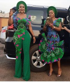 Ankara palazzo style that makes you look elegant not based on your stature but how you rock Unique Ankara Styles, Ankara Styles For Women, Beautiful Ankara Styles, African Attire, African Wear, African Women, African Dress, African Clothes, African Lace