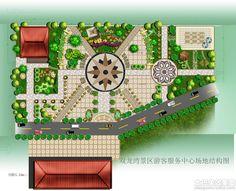 中心广场设计平面图
