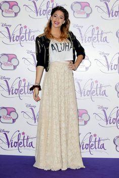 Martina Stoessel <3<3<3 Lace Skirt, Sequin Skirt, Violet, Disney, Sequins, Stars, Fairy, Fashion, Martina Stoessel