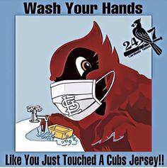 Chicago Cubs Fans, St Louis Cardinals, Team Logo, Funny Memes, Batman, Superhero, Fictional Characters, Sports, Hs Sports