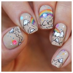 Pusheen, New Nail Art, Rainbow Unicorn, Nail Stamping, Mani Pedi, Swatch, Nailart, Nail Designs, Polish