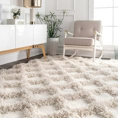 Shop a great selection of nuLOOM Francene Diamond Trellis Shag Rug, 2 x 6 , Ivory. Find new offer and Similar products for nuLOOM Francene Diamond Trellis Shag Rug, 2 x 6 , Ivory. White Shag Rug, White Area Rug, Affordable Rugs, Area Rugs For Sale, Area Rug Sizes, Rugs Usa, Rugs In Living Room, Room Rugs, Colorful Rugs
