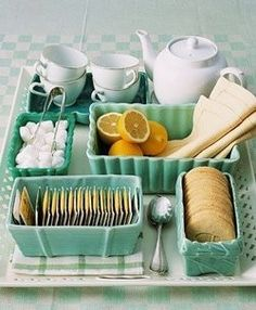Such a sweet way to serve up afternoon tea
