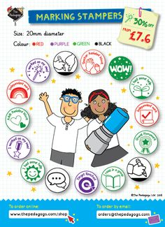 Marking Stampers from £7.63! http://www.thepedagogs.com/cscart/index.php?target=categories&category_id=222&page=2 #MarkingStamps