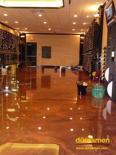 Metallic Epoxy Coatings for Garage Floors | Duraamen Digest----ummmm I would love for our garage to look like this ...LOL