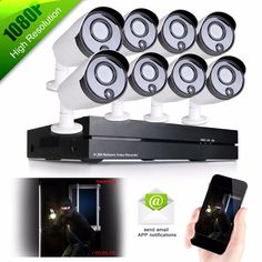 """599.99$  Watch more here - http://ailo5.worlditems.win/all/product.php?id=32757497951 - """"IP66 weatherproof 8CH 1/4 """"""""CMOS NVR Home Surveillance 1080P HD IR-CUT Infrared IP Network PoE Outdoor Security Camera System"""""""