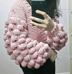 Ahududu Hırka Yapılışı 194 Baby Knitting Patterns, Knitting Designs, Free Knitting, Stitch Patterns, Crochet Handbags, Drops Design, Arm Warmers, Lana, Crochet Projects