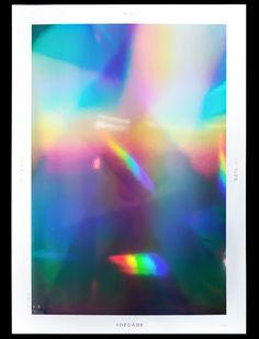 Decade Holographic Print on Behance Text Poster, Holographic Print, Japanese Poster Design, Cosmic Art, Leaflet Design, Tumblr Art, Graphic Design Posters, Branding, Art Direction