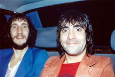"soundsof71: "" The Who: Pete Townshend & Keith Moon being adorable """