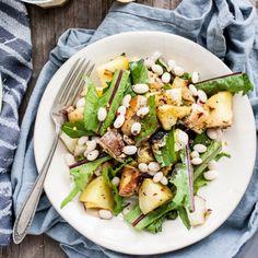 Roasted Potato Leek & White Bean Salad With Lemon-Caper Dressing