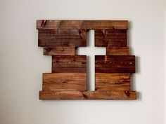 Rustic cross wood sign. #DIY
