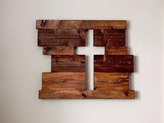Rustic cross wood sign. #DIY