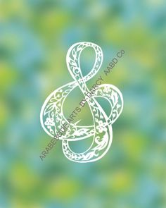Leaves and flowers dance through this clef sign like a melody! When executed as a papercutting, this item is all cut from one piece of Papercutting, My Design, Leaves, Symbols, Dance, Templates, Signs, Digital, Unique Jewelry