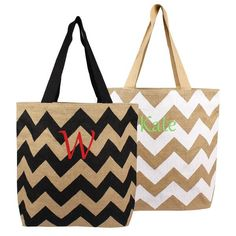 buy on wallmart.win Black Chevron Natural Jute Tote Bags: Vendor: PersonalizationPop Type: PersonalizationPop Items Price: Large in… Wedding Gifts For Groomsmen, Groomsman Gifts, Jute Tote Bags, Reusable Tote Bags, Bridesmaid Bags, Bridesmaids, Black Chevron, Bag Sale, Bag Making