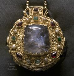 Talisman of Charlemagne Sapphire,gold,etc 9th cent.