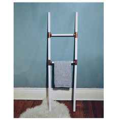 White and Gold Blanket Ladder / Towel Ladder / by LisaMTerry