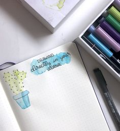 How to Use Tombows for Watercolor in Your Bullet Journal
