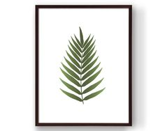 Botanical Print Palm Leaf Print Botanical Art by RepublicaDeCali