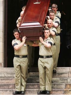 Australian troops in Afghanistan  The casket of Trooper David Pearce is carried from the Catherdral of Saint Stephen during his military funeral on October 17, 2007 in Brisbane, Australia. The 41-year-old Pearce, who joined the regular army the previous year, was killed by a roadside bomb on October 8, 2007 in Oruzgan, Afghanistan.  Photo by Getty Images Feb 20, 2011