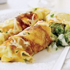 Broccoli and Cheddar Crepes