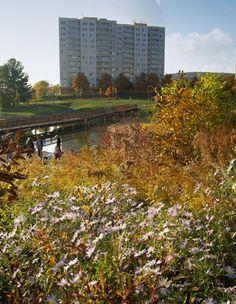 Park pod Plachtami v Novém Lískovci v Brně Park Landscape, Arches, City, Green, Parks, Inspiration, Ideas, Saints, Biblical Inspiration