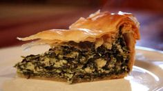 Food Safari's spanakopita | This classic Greek filo pie makes a perfect light lunch or dinner, and has such a fabulous combination of flavours– spinach, dill and spring onions with a creamy mix of cheeses. Alternatively, you can cut it into small diamonds and serve as an appetiser.