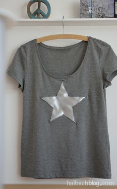 DIY-Idee Halbachblog: Shirt mit Sternapplikation