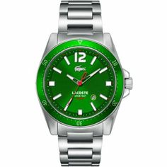 Lacoste - Gents Stainless Steel Green Dial Watch - 2010635 Online price: £125.00 www.lingraywatches.co.uk