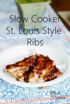 Slow Cooker St. Louis Style Ribs: Whisk Together
