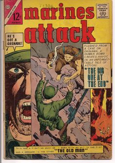 Charlton Comics War Stories MARINES ATTACK #2 1964 Glanzman art