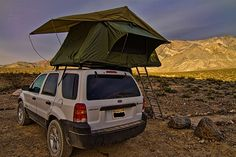 Oh Emily... you are a genius!  Rooftop tent with changing room from Camping Lab is a must for our honeymoon road trip.