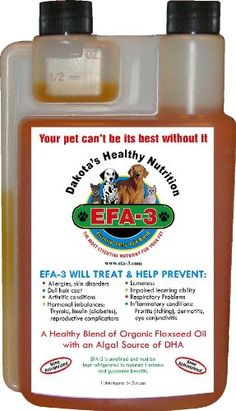 Organic Omega 3 Oil for Dogs EFA-3 * Be sure to check out this awesome product.