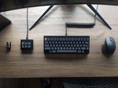 We're in the endgame now. : MechanicalKeyboards Gaming Desk Setup, Best Gaming Setup, Computer Setup, Pc Setup, Computer Case, Home Office Setup, Game Room Design, Desktop Accessories, Computer Keyboard