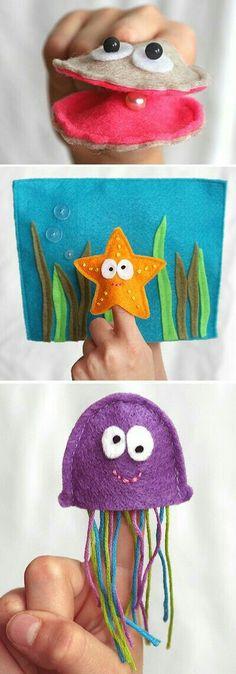 Pout pout fish puppets....